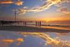 behold the sun goes down (Thunderbolt_TW) Tags: sunset sea sky sun reflection water windmill canon landscape taiwan 夕陽 台灣 日落 風景 windturbine 彰化 changhua 風車 彰濱 西濱 肉粽角 彰濱工業區 風景攝影 hsienhsi 線西 5d2 changpingindustryarea