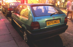 1992 VOLKSWAGEN POLO CL (Yugo Lada) Tags: old green london cars car volkswagen photo nice retro vehicle 1992 polo rare cl k179mgg