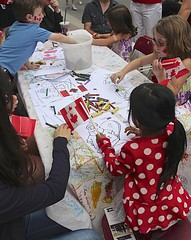 Colouring Table on Canada Day (Unionville BIA) Tags: canada festival kids table community day coloring activities unionville
