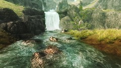 Glimpse of Water (modd3r86) Tags: woman green nature water landscape redhead fantasy rpg vegetation tes5 skyrim