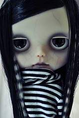 In a mood (Lawdeda ) Tags: shirt by viktor fun for goodness day sweet stock cutie creepy spooky end translucent blythe win stripey striped onyx the scoladolls drearys