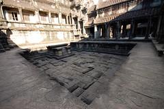 Internal courtyard and disused baths (Mark Tindale) Tags: bridge building pool stone architecture temple ancient bath asia cambodge cambodia khmer angkorwat baths siemreap archeology buddism buddist dravidian  camboya