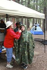 Not without your raincoat dear (heykliff) Tags: family camping arizona nature rain outdoors nationalpark grandcanyon camouflage raincoat poncho northrim