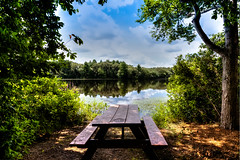 Watson Pond Picnic Spot, Taunton, MA (PapaDunes) Tags: summer landscape pond picnic picnictable tauntonma sceniclandscape watsonpond
