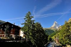 Zermatt Daylight (jerryjcwu) Tags: travel trees summer mountains nature landscape switzerland countryside scenery europe zermatt matterhorn nikkor streetview alpinevillage d600 afsnikkor28mmf18g