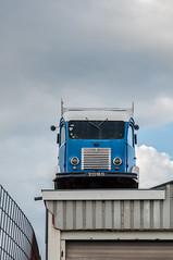 Long-term parking (glukorizon) Tags: auto blue roof sky urban cloud car fence funny utrecht blauw nederland lucht bestelbus dak hek wolk grappig defabrique deliveryvan schutting