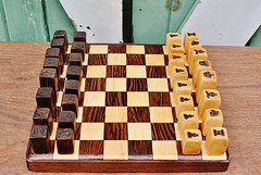Wooden Chess Set - Engraved Blocks - Maple and Wenge (spenceriko) Tags: africa wood game shop toy wooden maple war king artist natural handmade african rustic chess battle queen wise knight etsy rook bishop strategy burned engraved pawn engrave wenge etsycom woodburned pyrography