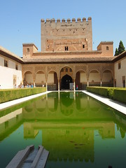 Alhambra, Granada (lady black) Tags: 6 reflection water pool spain arch goldfish 7 alhambra granada andalusia