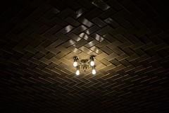 DSC_1030 (dragonfly21466) Tags: nyc newyork reflection sepia tile nikon glow ceiling grandcentralstation lightfixture nikond3100