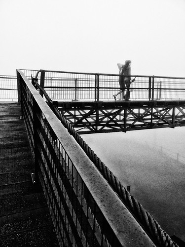 railroad bridge brazil bw cloud mist latinamerica southamerica nature weather misty fog brasil saopaulo footbridge metallic foggy overpass rail railway structure ponte rails neblina flyover santoandre paranapiacaba pedestrianbridge garoa