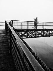 Overpass (Diego3336) Tags: railroad bridge brazil bw cloud mist latinamerica southamerica nature weather misty fog brasil saopaulo footbridge metallic foggy overpass rail railway structure ponte rails neblina flyover santoandre paranapiacaba pedestrianbridge garoa
