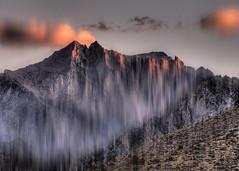 Behind the Portal (Blake's Vision) Tags: california sunset cloud mountain blur purple dusk surreal mountwhitney whitneyportal