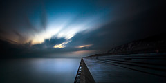 Samphire Hoe (richard carter...) Tags: longexposure sunset seascape canon kent dusk etc 1635 thebluehour eos5dmk2