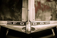 Old Worn Ford (Nicholas Erwin) Tags: auto usa classic ford car america emblem automobile vermont unitedstates muscle automotive american worn milton
