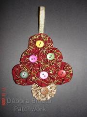 Ornamento Natalino (Débora Binato Patchwork) Tags: natal noel fuxico árvore enfeite ornamento arttoheart
