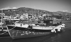 Boat, Elounda harbour in Crete (xhupf) Tags: water boat european crete harbourside olympusomdem5
