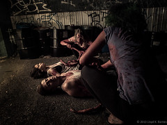 Feeding Time (Lloyd K. Barnes Photography) Tags: canada halloween vancouver zombie britishcolumbia makeup tessa zombies interestingness121 specialeffects i500 explore20131031