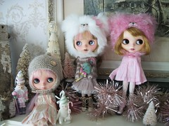 Sisters Joined At The Hip... (simplychictiques) Tags: pink sisters vermont ornaments blythe skirts oldfashion