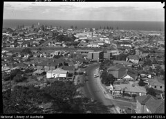 Crown Street Wollongong From Hospital by Hurley, Frank, 1885-1962 (Old Family Images) Tags: roof hospital wollongong nowandthen twh illawarra crownstreet frankhurley wollongonghospital wollongongsuburbs