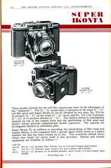 Zeiss Ikon Super Ikonta 1937 (Nesster) Tags: camera vintage photography ad photographic advertisement advert 1937 almanac britishjournal