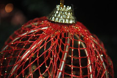 (Dia A.  Mavrokirkinezo) Tags: christmas red macro ball happy lights nikon holidays bokeh joy decoration  2013    d3000