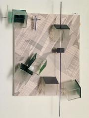 """LBDMLCRDC cube ( 2013 ), appartient à la série """" LBDMLCRDC=le besoin de maîtriser le chaos rebelle des choses """" initiée en 2000. (emmanuelviard75) Tags: roller papier bois alu inox plexy millimétré"""
