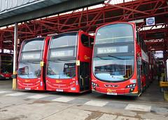 GAL E203 SN61BKK - E236 YX61DTK - WVL374 LX60DXE - BX GARAGE - THUR 26TH DEC 2013 (Bexleybus) Tags: bus london volvo garage service dennis gemini bexleyheath adl in bx goahead wrightbus not enviro400 e203 e236 wvl374 sn61bkk yx61dtk lx60dxe