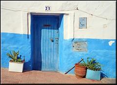 a Sidi Ifni door in blue (mhobl) Tags: door blue morocco maroc marokko sidiifni