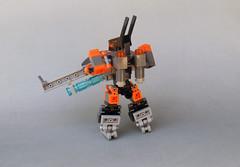 Nightingale MkIIb (Rear) (dukayn66) Tags: lego mecha mech moc microscale mechaton mfz mf0 mobileframezero