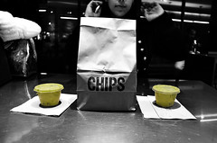 Chips (Wenzel_Dashington) Tags: nyc blackandwhite food love avocado perfect manhattan valentine chips mexican foodporn guacamole chipotle guac nomnom