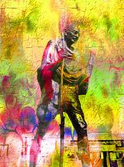 "The Sf Ghandi Dude (""Cisco Kid"") Tags: color texture photoshop san francisco spirituality gandi"