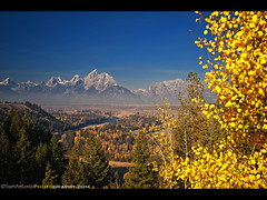 A classic shot that you cant duplicate  Snake River Overlook, Grand Teton National Park, Wyoming (Sam Antonio Photography) Tags: travel blue autumn wild summer vacation sky usa mountain holiday west color tree fall nature water beautiful grass horizontal pine clouds composition america forest sunrise river landscape outdoors photography scenery day bend outdoor snake fallcolors scenic peaceful grand nopeople mount national western snakeriver serene wyoming geology grandtetons wilderness shrub teton curve moran idyllic grandteton tranquil rugged scenics steep anseladams tetonrange tranquilscene grandtetonnationalpark travelphotography landscapephotography traveldestinations colorimage naturelandscape beautyinnature snakeriveroverlook nationalparkphotography yellowfallcolors samantonio samantoniophotography vision:mountain=057 vision:outdoor=0916 vision:clouds=0921 vision:sky=0962 grandtetonphotolocation grandtetonnationalparkphotography