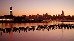 Break Of Dawn (Hieroglyphics...) Tags: longexposure ny newyork colors skyline sunrise earlymorning empirestatebuilding canonphotography breakofdawn