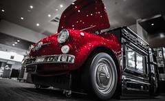 50-0ven (Claudio Accheri) Tags: red color detail reflection building colors design fridge colours oven fiat wide sydney australia oldschool showroom nsw 500 appliances smeg intermedia blackandwhiteandred