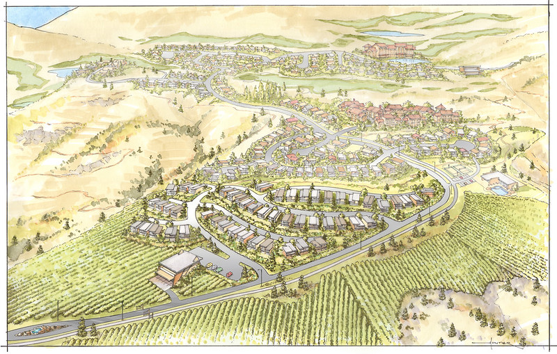 Photo Caption: Rendering of $5.2 million winery and Skaha Hills residential community.