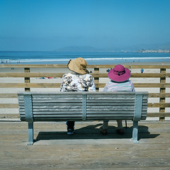 Together (AndreasGarcia) Tags: ocean people color 120 tlr film beach rolleiflex mediumformat photography fuji candid 120mm shootfilm pro400h originalphotography buyfilm
