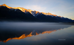 Morning reflection- New Zealand (landscape artist828) Tags: new reflection sunrise landscape photography long exposure zealand elite fujifilm xe1 specland flickrdiamond ruby10 ruby15 flickrstruereflection1 ruby20 rubyfrontpage