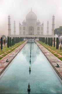 Taj Mahal on a smokey, rainy day.....