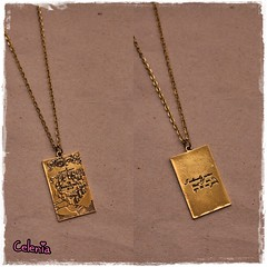 COLLAR MARAUDER'S MAP (Fieltrecitos de Celenia) Tags: golden necklace harrypotter collar quidditch hogwarts snitch slytherin dorada colgante gryffindor