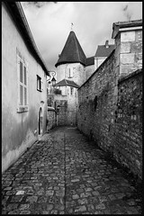 The Watchtower (Jean-David & Anne-Laure) Tags: winter blackandwhite france nikon indre medieval d800 chateauroux 1424