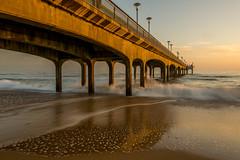 Boscombe Pier - 6/2/15 (Christopher Pope Photography) Tags: longexposure sunset sea seascape pier surf bournemouth goldenhour 2014 sidelit boscombe