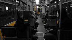 in a tram...