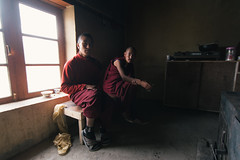 Tea with the Monks at Hanle Monastery - Ladakh (8tariqkhan8) Tags: morning travel portrait asia tea buddhist roadtrip wanderlust adventure explore monks roam chai himalayas ladakh royalenfield travelphotography hanle d5200
