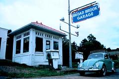 Broad Brook Garage, East Windsor, CT (63vwdriver) Tags: vw vintage bug volkswagen connecticut garage beetle ct mobil gas east pump windsor brook broad 1963