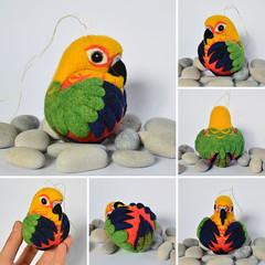 Jenday Conure, needle felted ornament (woolroommate) Tags: bird wool animal ball felt ornament parakeet needlefelting decor conure arttoy needlecraft jenday needlefelted natureinspired jandaya