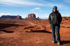 Marci in a John Ford Film (jpmckenna - Denali Bound) Tags: road trip arizona landscape desert highdesert monumentvalley navajotribalpark getoutside iconicamericanwest