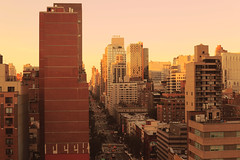 (eflon) Tags: street city nyc sunset ny newyork view manhattan side east yellows bldgs