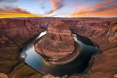 Hosrseshoe bend (Vittorio Sommariva) Tags: sunset arizona sky usa sun color water colorado roadtrip page
