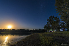 Moonrise over Wivenhoe Camp (mvhc88) Tags: camping moon star nikon dam wideangle brisbane moonrise queensland d750 shooting tamron milkyway wivenhoe shootingstar tamron1530mm