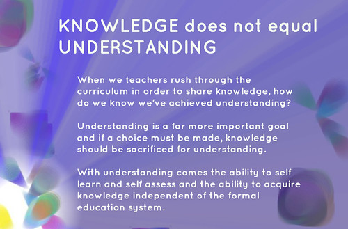 Educational Postcard: KNOWLEDGE not equa by Ken Whytock, on Flickr